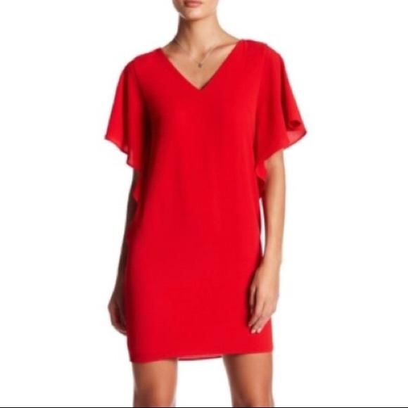 a368835b445 Eliza J Ruffled Dolman Split Sleeve Cocktail Dress